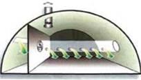 Схема руху повітря з розподільною вентиляцією